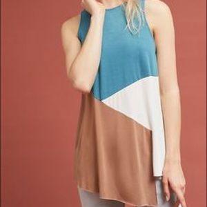 Anthropologie Colorblocked Sleeveless Tunic